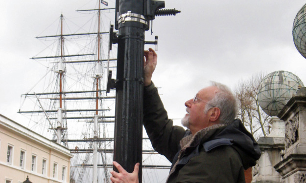 A pollution monitor (gas diffusion tube) was near the Cutty Sark in Greenwich